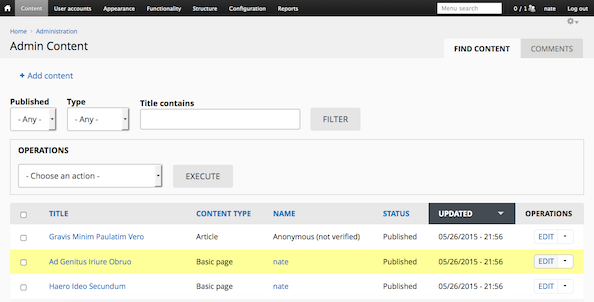 Admin theme screenshot